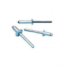 Заклепка вытяжная AVDEL Standard Breakstem BD01 полукруг, комбинированная AL/ST, цинк