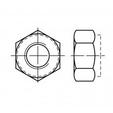 Гайка ISO 10512 шестигранная с нейлоновым кольцом