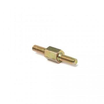 Стойка DREMEC 4113 М8 латунь, никель, нар/нар, SW=13, L2=L3=10mm