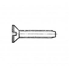 Винт ГОСТ 10619-80 самонарезающий с потайной головкой прямой шлиц