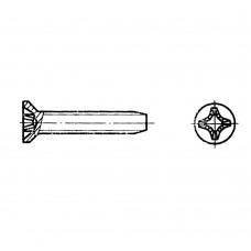 Винт ГОСТ 10619-80 самонарезающий с потайной головкой крестообразный шлиц