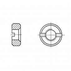 Гайка ГОСТ 10657-80 круглая со шлицем на торце