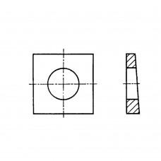 Шайба ГОСТ 10906-78 косая квадратная клиновая