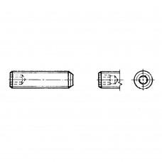 Винт ГОСТ 11074-93 установочный с плоским концом и шестигранным углублением под ключ