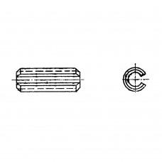 Штифт ГОСТ 14229-93 цилиндрический пружинный с прорезью