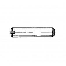 Винт ГОСТ 1477-93 установочный с плоским концом и прямым шлицем