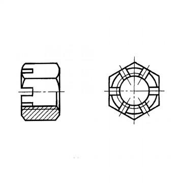 Гайка ГОСТ 5918-73 шестигранная прорезная и корончатая