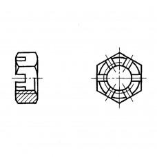 Гайка ГОСТ 5919-73 шестигранная прорезная и корончатая низкая