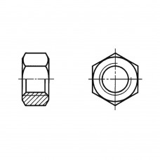Гайка ГОСТ 5927-70 шестигранная