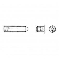 Винт ГОСТ 8878-93 установочный с коническим концом и шестигранным углублением под ключ
