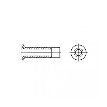 Заклепка ГОСТ 12639-80 пустотелая с плоской головкой
