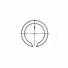 Кольцо ГОСТ 13940-86 пружинное упорное плоское наружное концентрическое