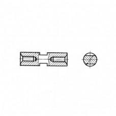 Стойка установочная ГОСТ 20866-81 крепежная круглая с лысками и резьбовыми отверстиями