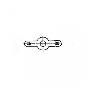 Лепесток ГОСТ 22375-77 двухсторонний закрепляемый винтами или заклепками