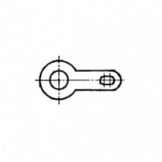 Лепесток ГОСТ 22376-77  односторонний закрепляемые винтами или заклепками