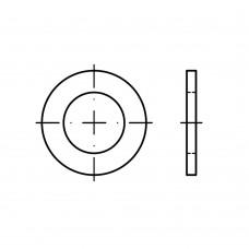 DIN 433 Шайба 17 плоская, узкая, сталь нержавеющая А2