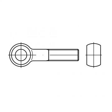 DIN 444 Болт 16* 140 откидной высокопрочный с ушком, латунь
