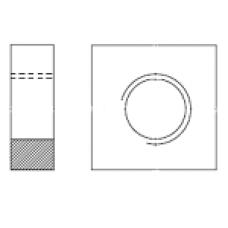 DIN 562 Гайка М10 квадратныя низкая, сталь, цинк