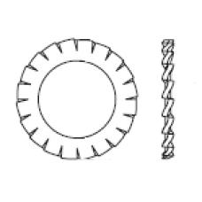 DIN 6798 A Шайба 12 стопорная, с внешними зубцами, сталь