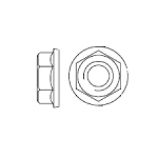 DIN 6923 Гайка М6 шестигранная с фланцем, сталь нержавеющая А2