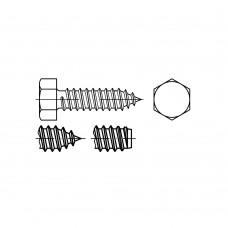 DIN 7976 Саморез 6,3* 22 c шестигранной головкой, сталь нержавеющая А2