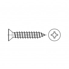 DIN 7982 Винт 4,8* 25 саморез с потайной головкой, крестообразный шлиц, сталь нержавеющая А2