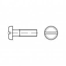 DIN 85 Винт М3* 16 цилиндр скругленный, сталь нержавеющая А2