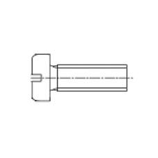 DIN 85 Винт М6* 10 с цилиндрической скругленной головкой, пластик