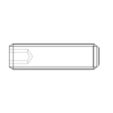 DIN 916 Винт М3* 16 установочный, внутренний шестигранник, засверленный конец, сталь