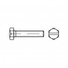 DIN 933 Болт М10* 35 с полной резьбой, латунь