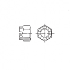 DIN 935 Гайка М8 корончатая, сталь нержавеющая А2