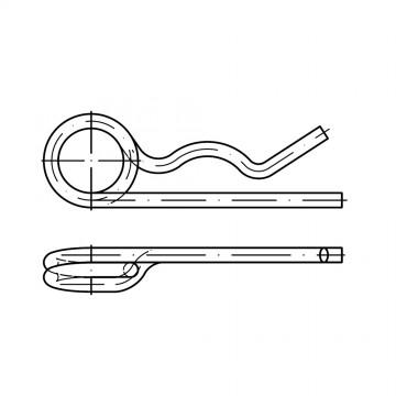 DIN 11024 Шплинт 2,5/9-11,2 пружинный, игольчатый, сталь, цинк