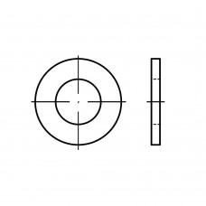 DIN 125 Шайба 1,1 плоская с фаской, латунь
