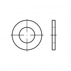 DIN 125 Шайба 3,7 плоская без фаски, латунь