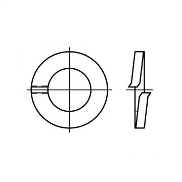 DIN 127 Шайба 2,5 пружинная форма В, сталь, цинк