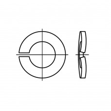 DIN 128 Шайба 2,5 пружинная одновитковая, сталь нержавеющая А4