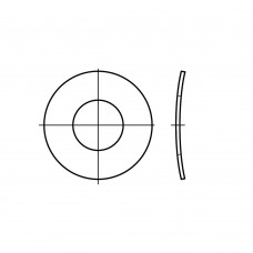 DIN 137 Шайба 12 пружинная, тарельчатая, волнистая, форма В, сталь нержавеющая 1.4310