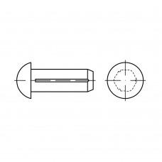 DIN 1476 Штифт 2* 4 цилиндрический, полукруг, латунь