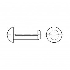 DIN 1476 Штифт 3* 6 цилиндрический, полукруг, алюминий