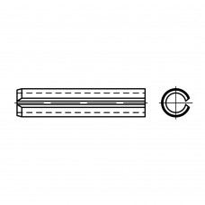 DIN 1481 Штифт 10* 36 пружинный, цилиндрический, сталь нержавеющая 1.4310