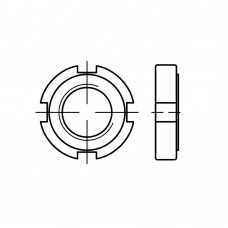 DIN 1804 Гайка 42* 1,5 круглая, сталь нержавеющая А2