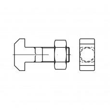 DIN 186 Болт 20* 80 крепления к пазам, станочным, сталь 4.6, с гайкой