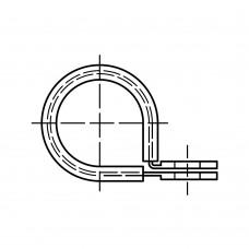 DIN 3016 Хомут 6* 15 крепежный с зажимными стяжками, сталь, цинк