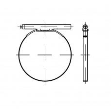 DIN 3017 Хомут 70- 90/12 C7 червячный форма А, сталь нержавеющая А4