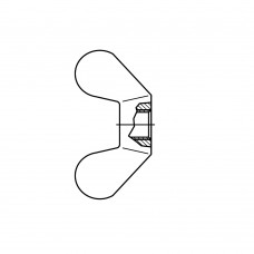 DIN 315 Гайка-барашек М4 с округлыми лепестками, сталь нержавеющая А2