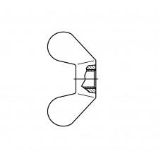 DIN 315 Гайка-барашек М8 с округлыми лепестками, латунь, никель