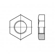 DIN 431 Гайка UNC 3/8 трубная низкая шестигранная, латунь