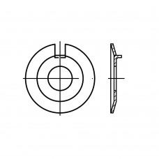 DIN 432 Шайба 5,3 стопорная с наружным выступом, сталь, цинк