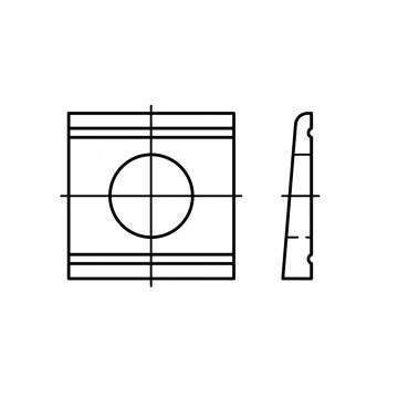 DIN 434 Шайба 13,5 косая квадратная, для швеллеров, сталь