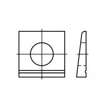 DIN 435 Шайба 17,5 косая квадратная, сталь нержавеющая А2
